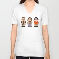 big lebowski V-neck T-shirts featuring The Big Lebowski  by PixelPower