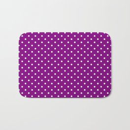 Dots (White/Purple) Bath Mat