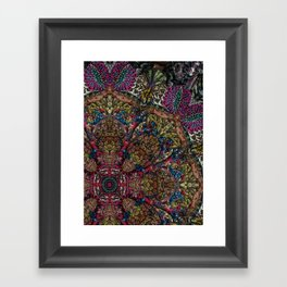Psychedelic Botanical 9 Framed Art Print