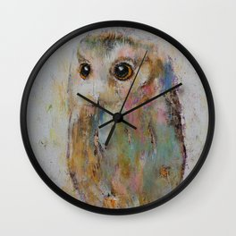 Owl Painting Wall Clock