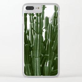 Vintage Cactus Print II Clear iPhone Case