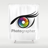 photographer Shower Curtains featuring Photographer by Jatmika jati
