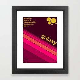 galaxy single hop Framed Art Print