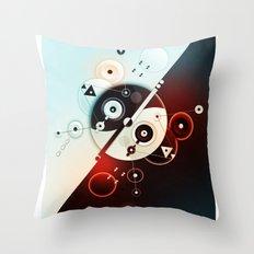 Ying-Yang Blue Version Throw Pillow