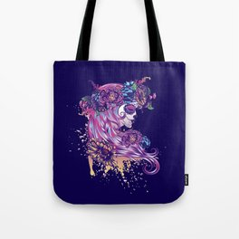 Purple sugar skull Tote Bag