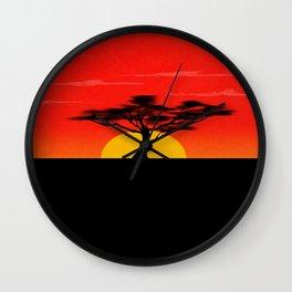 African Sunset Wall Clock