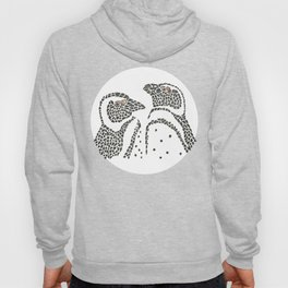 Vanishing Penguins by Black Dwarf Designs Hoody