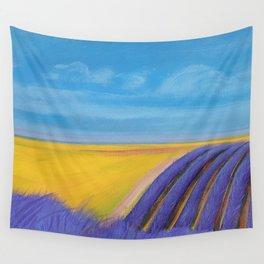 LAVENDER FIELD of SANTA YNEZ Wall Tapestry