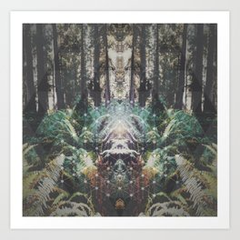 Forest Grid Art Print