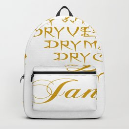 Dry January Allowed Drinks List Backpack
