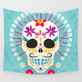 9c9a4993c Dios De Los Muertos Day of the Dead Sugar Skull Fiesta Wall Tapestry