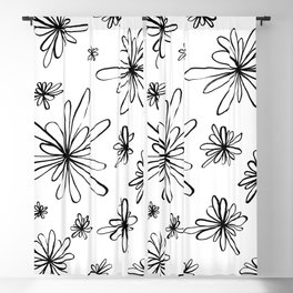 Energy Flowers Blackout Curtain