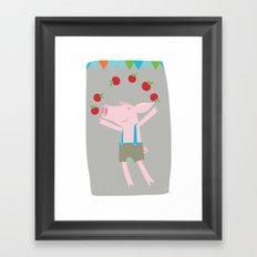 little pigs like apples Framed Art Print