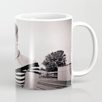 pinup Mugs featuring Railway pinup by Vorona Photography