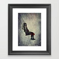 The swing (I have a bird inside me) Framed Art Print