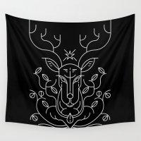 reindeer Wall Tapestries featuring Reindeer by Marco Recuero