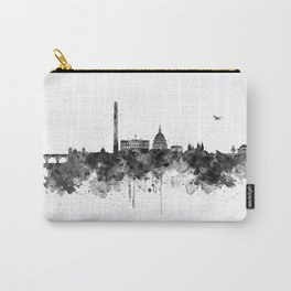 Washington DC Skyline Black and White Carry-All Pouch