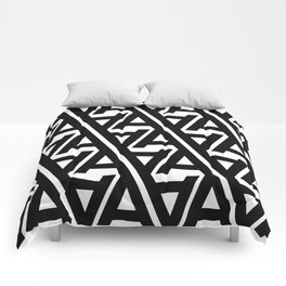 """Typographic Pattern """"A"""" Comforters"""