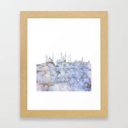 Istanbul Turkey Skyline Framed Art Print