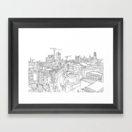 Manchester City Centre Framed Art Print