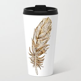 Golden Feather Travel Mug