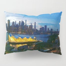 New York City as viewed from the Beautiful Brooklyn Heights Pillow Sham