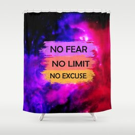 Space Quote Infinite Shower Curtain