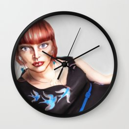 In the Style of... Fancesco Clemente - 2013 Wall Clock