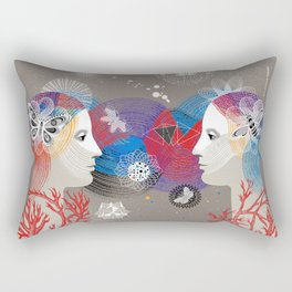 Twins Art Dream Rectangular Pillow