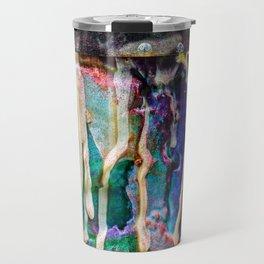Paint drip cool colors Travel Mug