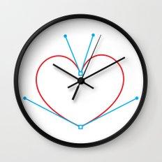 Bezier Love Wall Clock