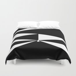 Triangles in Black and White Duvet Cover