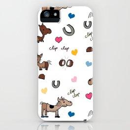 Clip Clop iPhone Case