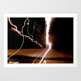 Midnight Light Show Art Print