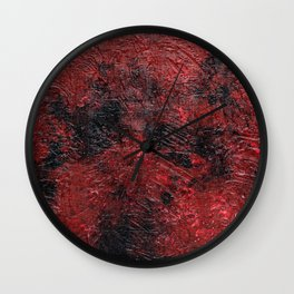 Smoldering (Red Abstract) Wall Clock