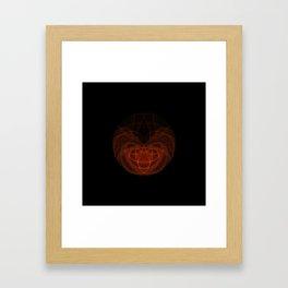 Orange Orb Framed Art Print