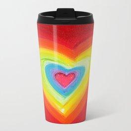 Rainbow Heart Love Travel Mug
