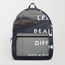 dificult roads beautiful destinations Backpack