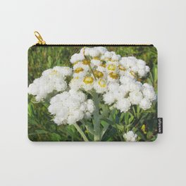 Watercolor Flower, Pearly Everlasting Flower 02, Boulder, Colorado Carry-All Pouch