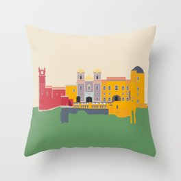Portugal, Pena Palace, Sintra Travel Poster Throw Pillow