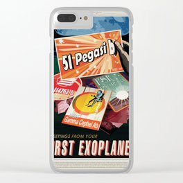 NASA Visions of the Future - Greetings from Your First Exoplanet, 51 Pegasi b Clear iPhone Case