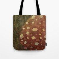 mushroom Tote Bags featuring mushroom by rysunki-malunki
