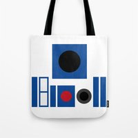 r2d2 Tote Bags featuring R2D2 by VineDesign