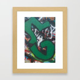 G series (green) Framed Art Print