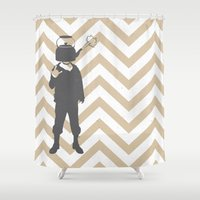 steam punk Shower Curtains featuring Steam Punk by Jade Deluxe