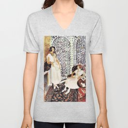 Henri Matisse - Moorish Screen - Exhibition Poster Unisex V-Neck