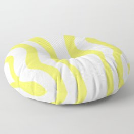 Yellow & White Waves Floor Pillow