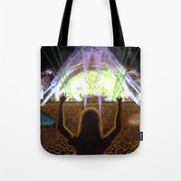 concert Tote Bags featuring The Concert by Vargamari
