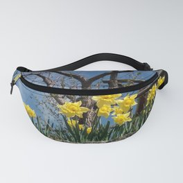 Yellow flowers in a house - Italy Fanny Pack