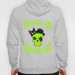 "Creepy yet attractive tee design made for you! ""Strange And Unusual"" Makes a unique gift too!  Hoody"